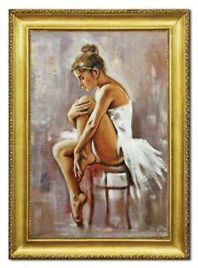 Ölbild Ölbilder Gemälde Bilder Bild Handgemalt Öl mit Rahmen Barock Kunst 96512