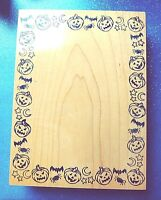 Halloween Card Frame Lg Rubber Stamp By Stamps Of Distinction EUC HTF ~ RETIRED