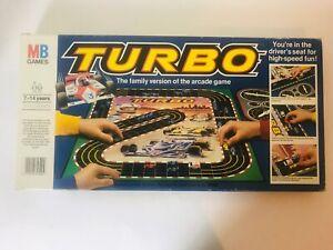 Turbo by MB Games & Sega Vintage Board Racing Game 1982 CompleteFast Dispatch