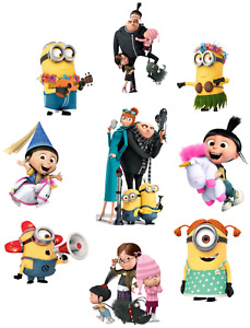 DESPICABLE ME MINIONS 2 CHARACTERS AGNES UNICORN STICKER WALL DECO DECAL lot 1S