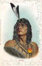 HIAWATHA Native American Indian Man 1907 Vintage Postcard
