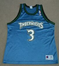 Vtg Stephon Marbury Minnesota Timberwolves Champion Basketball Jersey Sz 48