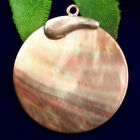 Wrapped+Black+Abalone+Shell+Round+Pendant+Bead+34x31x2mm+F89579