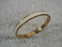 KATE SPADE New York Goldtone Cream Bangle Bracelet (C28)