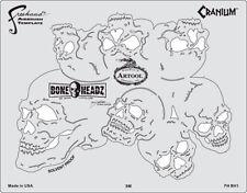 Mike Lavallee Bone Headz Cranium Set of 4 Iwata Artool Airbrush Stencils Skulls