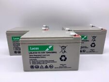 3 x 6-DZM-12 (equiv)12V 12ah  - Re-chargeable ELECTRIC BIKE  BATTERIES