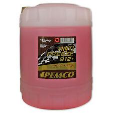 10 (1x10) Liter PEMCO Antifreeze 912+ Ready Mix -40° / Kühlerfrostschutz rot