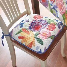 4 Pioneer Woman Celia Reversible Dining Seat Cushion Chair Pad Garden Kitchen ✨