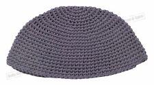 Gray Knitted Kippah Yarmulke Tribal Jewish Hat covering Cap Holy sacred cupola