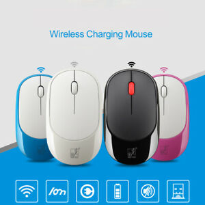 Rechargeable Mini 2.4GHz Wireless Mouse 1200/1600 DPI Office Mice +USB Receiver