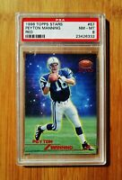1998 Topps Stars Red /8799 PEYTON MANNING Rookie Colts PSA 8