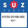 01550-0510B-000 Suzuki Bolt 015500510B000, New Genuine OEM Part