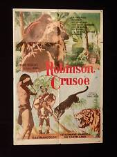 LA ISLA ENCANTADA * ROBINSON CRUSOE * STIGLITZ * AHUI * 1sh MOVIE POSTER 1973