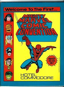MIGHTY MARVEL COMIC CONVENTION*** PROGRAM BOOK 1ST CON NEW YORK 1975** STAN LEE