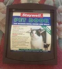 STAYWELL Small Brown Pet Door see-through magnetic flap. Brand New.