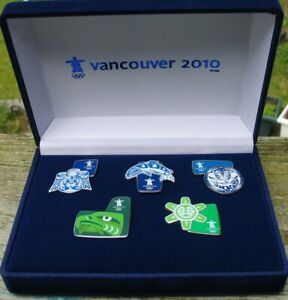 Aboriginal Native series set Vancouver 2010 Olympic 5 PINS gift Box NEW