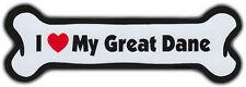 Dog Bone Magnet I LOVE MY GREAT DANE Doggy Puppy Car Track Bumper Buy2Get1Free