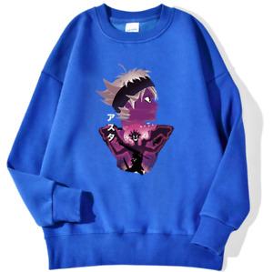 Unisex Long Sleeve Clothing Black Clover Japan Anime Asta Demon Print Sweatshirt