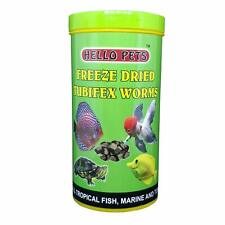 Indian Hello Pets Freeze Dried Tubifex Worms Fish Food,fish Meal,Pet Food, 100 g