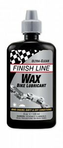 Finish Line Wax Bike Lube Chain Oil Drip Bottle Economy Size 4oz Ounce
