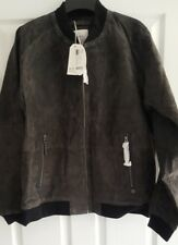 Esprit Suede Bomber Jacket Size XXL New- Grey