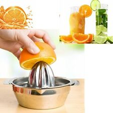 Stainless Fruit Lemon Orange Kitchen Home Citrus Juicer Hand Press Squeezer Tool