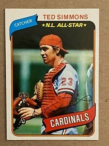 Topps 1980 N.L. All-Star  #85 Ted Simmons - St. Louis Cardinals