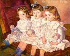 Children Fishing by Illarion Pryanishnikov Girls Boys Water 8x10 Print 1257
