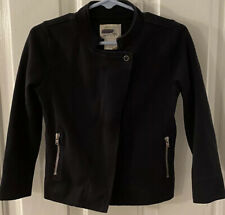 Crewcuts Girl's Size 4/5 Black Cotton Blend Knit Jacket Euc