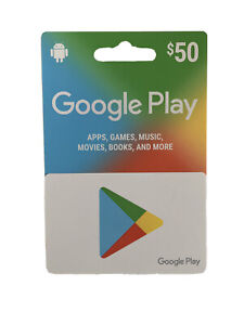 Google Play $50 Gift Card ( Apps, Games, Music, Movies, Books, And More…)
