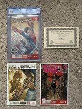 3 Comic Book Amazing Spider-man 4, Silk 1 ASM 1 CGC 9.8 W/ COA Vol 3 Lot 1st App