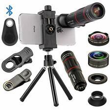 4 In 1 Cell Phone Camera Lenses Kit, 18X Telescopic Zoom Lens/4K Hd Super Wide 7