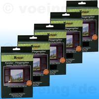 5x Fenster-Fliegengitter Fliegennetz Insektenschutz 130x150cm inkl. Klettband