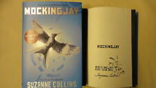 New Signed Suzanne Collins Mockingjay Book 1/1 HC DJ Hunger Games Trilogy Stamp