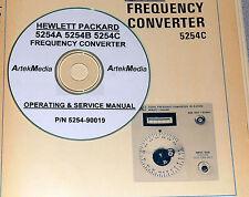 HP 5254A 5254B 5254C Operating & Service Manual