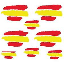 Vinilo pegatina bandera de España en vinilo REFLECTANTE coches motos cascos