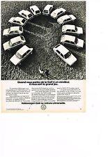 PUBLICITE ADVERTISING  054  1977  VOLKSWAGEN   GOLF LA VOITURE UNIVERSELLE
