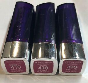 (3) Rimmel Moisture Renew Lipstick, 410 Dashing Raspberry