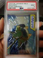 pokemon japanese meiji embossed 1999 DRAGONITE PSA9