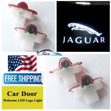 2x LED Door Welcome Goast Shadow Courtesy Laser Logo Lights For Jaguar XJ X-Type