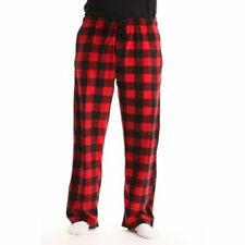 Men's XL Pajama Pants Fleece Soft Casual Lounge Sleep Bottoms Red Buffalo Check