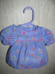 Baby Alive doll dress purple with butterflies