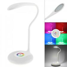 Dimmable LED Desk Bedside Reading Lamp Table Study Light Touch Control Colorful