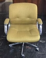 Rare Mid-cent. Heavy Duty Steelcase Office Chair, 5 Arm Base w/ Double Casters