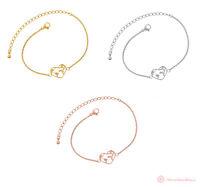 Armband Damen Globus Erde Weltkarte Herz Hollow Gold Silber Rosegold Edelstahl