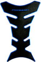 Tankpad Tankschutz Motorrad Carbon Optik Blau Schwarz universal Yamaha Suzuki