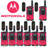 Motorola Talkabout T107 Walkie Talkie 8 Pack Set 16 Mile Two Way Radios Pink New