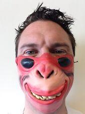 Funny Half Face Monkey Mask Glasses Chimp Animal Masks Adult Fancy Stag Party