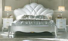 LUXE Lit 160x200 casa Giulietta meubles de style Italia classique BEIGE-OR