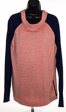 41 Hawthorn Women's Crew Neck Pullover Sweater Coral Navy Rayon Nylon Cashmere